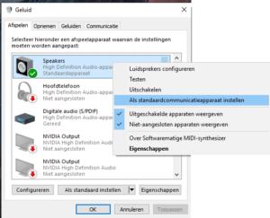 Audio driver kiezen