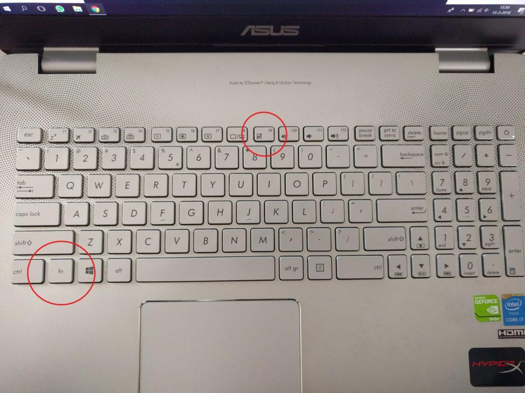 FN knop laptop