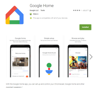 Google home play store